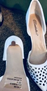 White Breckell Heels one once in excellent conditi